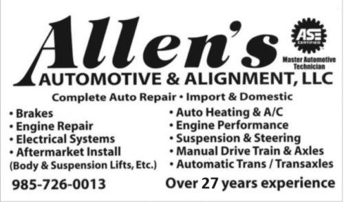Allen's Automotive & Alignment, LLC