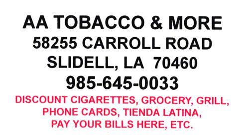 AA Tobacco & More