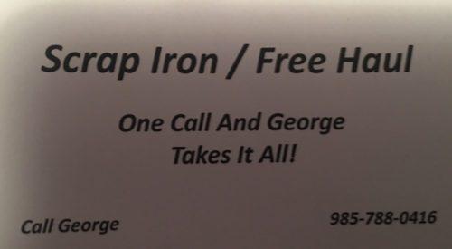 Scrap Iron / Free Haul