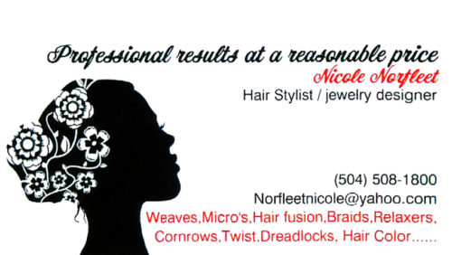 Nicole Norfleet - Hair Stylist / Jewelry Designer