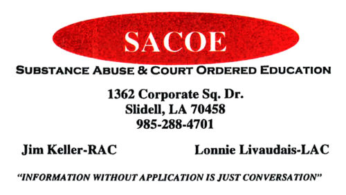 SACOE - Substance Abuse & Court Ordered Education