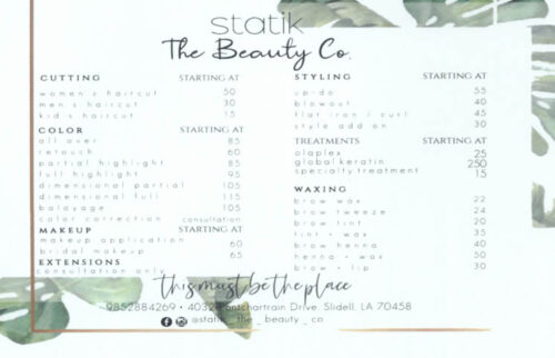 Statik - The Beauty Co