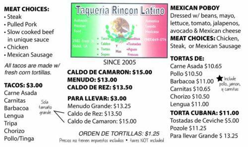 Ricon Latino Taqueria